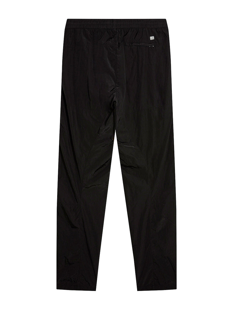 Chrome Straight Leg Track Pants in Black