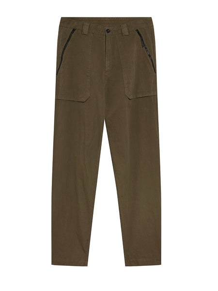 50 Fili Garment Dyed Pants in Olive Night