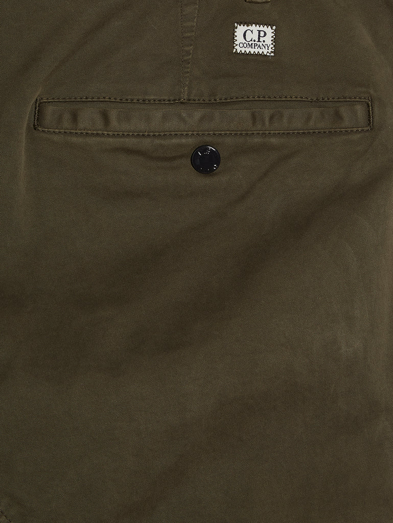 Garment Dyed Sateen Ergonomic Pants in Olive Night