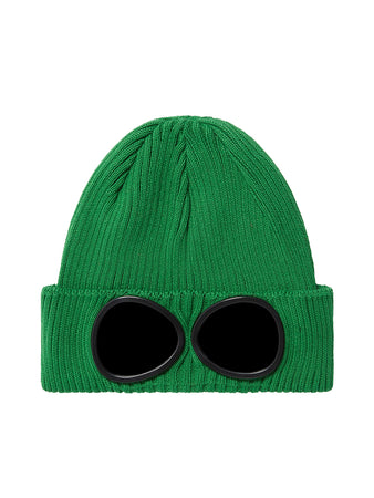 Undersixteen Cotton Goggle Beanie in Jelly Bean