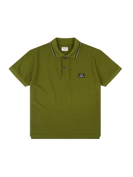 Undersixteen Cotton Pique Polo Shirt in Pesto