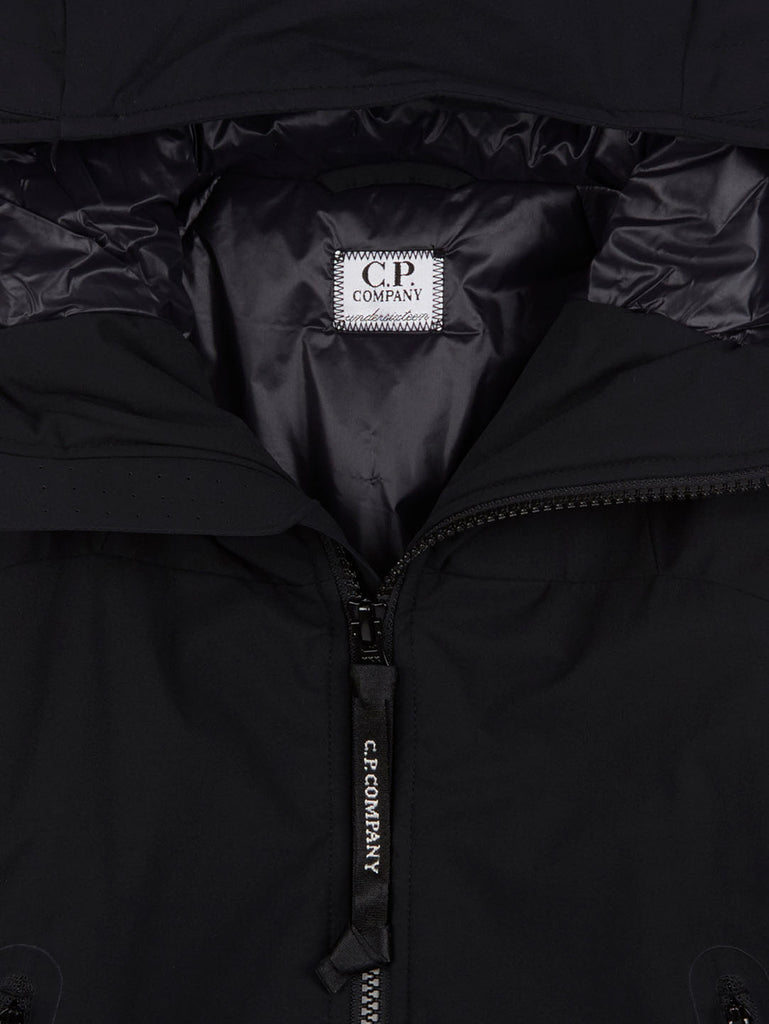 Undersixteen Hooded Lens Sleeve Jacket in Black