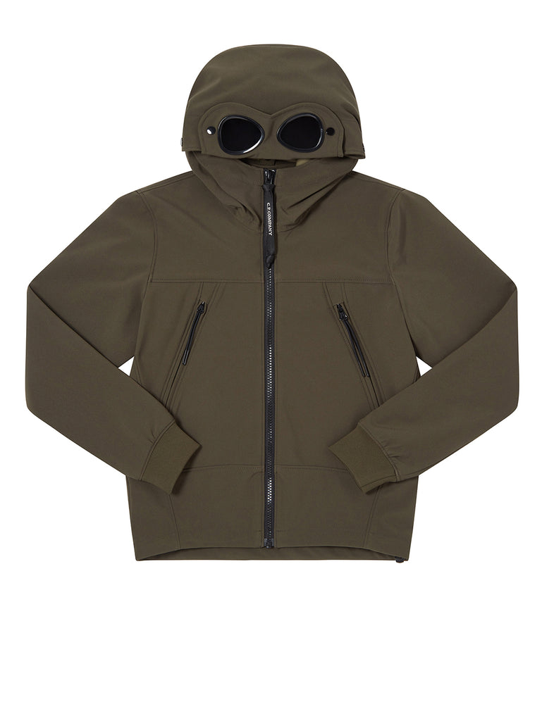 Undersixteen C.P. Shell Hooded Google Jacket in Forest Night