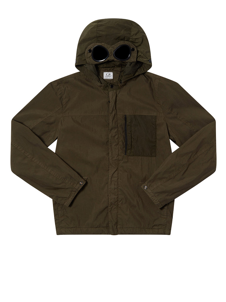 Undersixteen 50 Fili Mixed Goggle Jacket in Forest Night