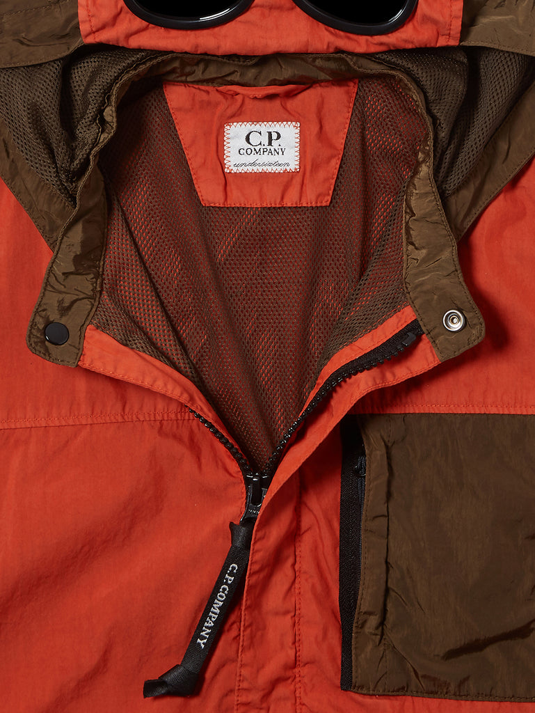 Undersixteen 50 Fili Mixed Goggle Jacket in Rusty Orange