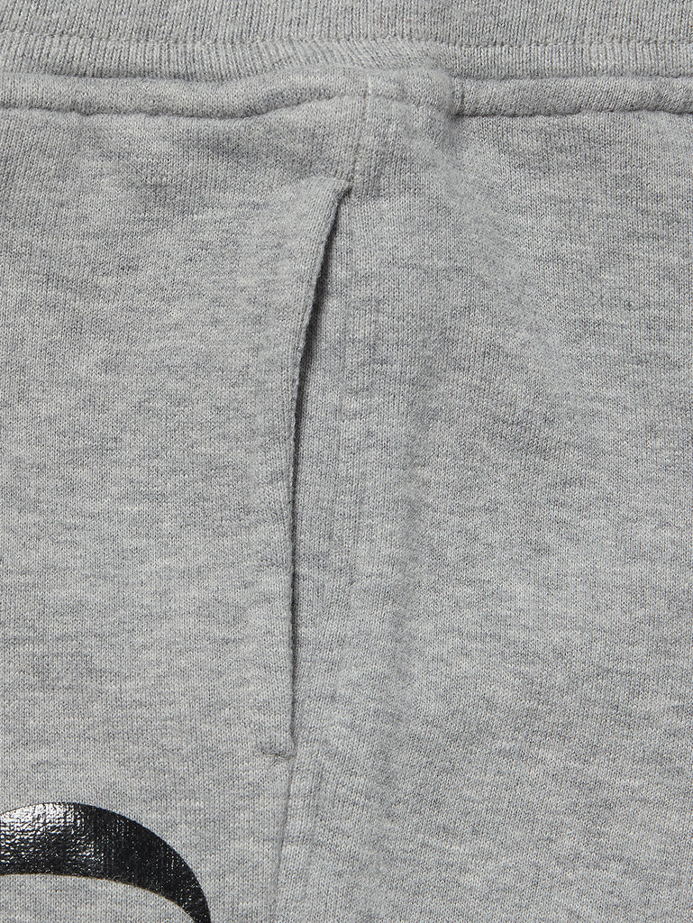Undersixteen Basic Fleece Print Sweatpants in Grey Melange