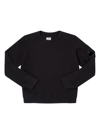 Undersixteen Basic Fleece Lens Sweatshirt in Black