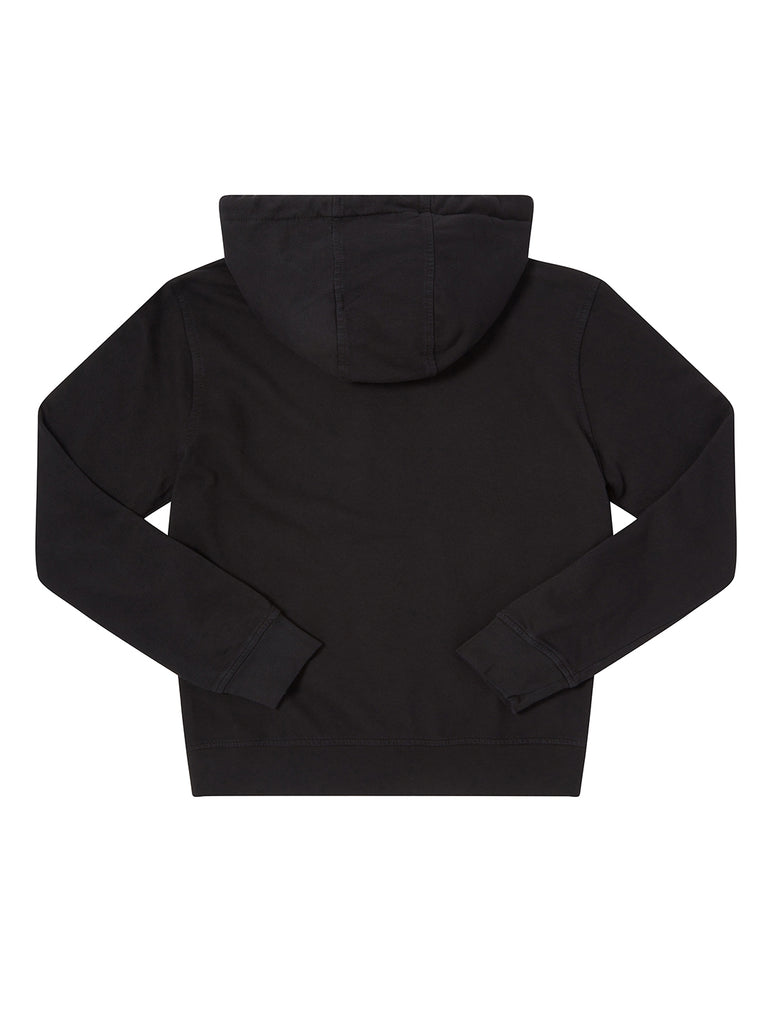 Undersixteen Light Fleece Mixed Hoodie in Black