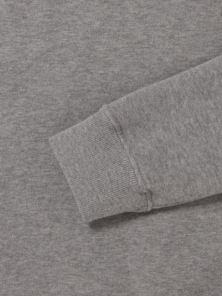Undersixteen Basic Fleece Lens Sleeve Sweater in Grey Melange
