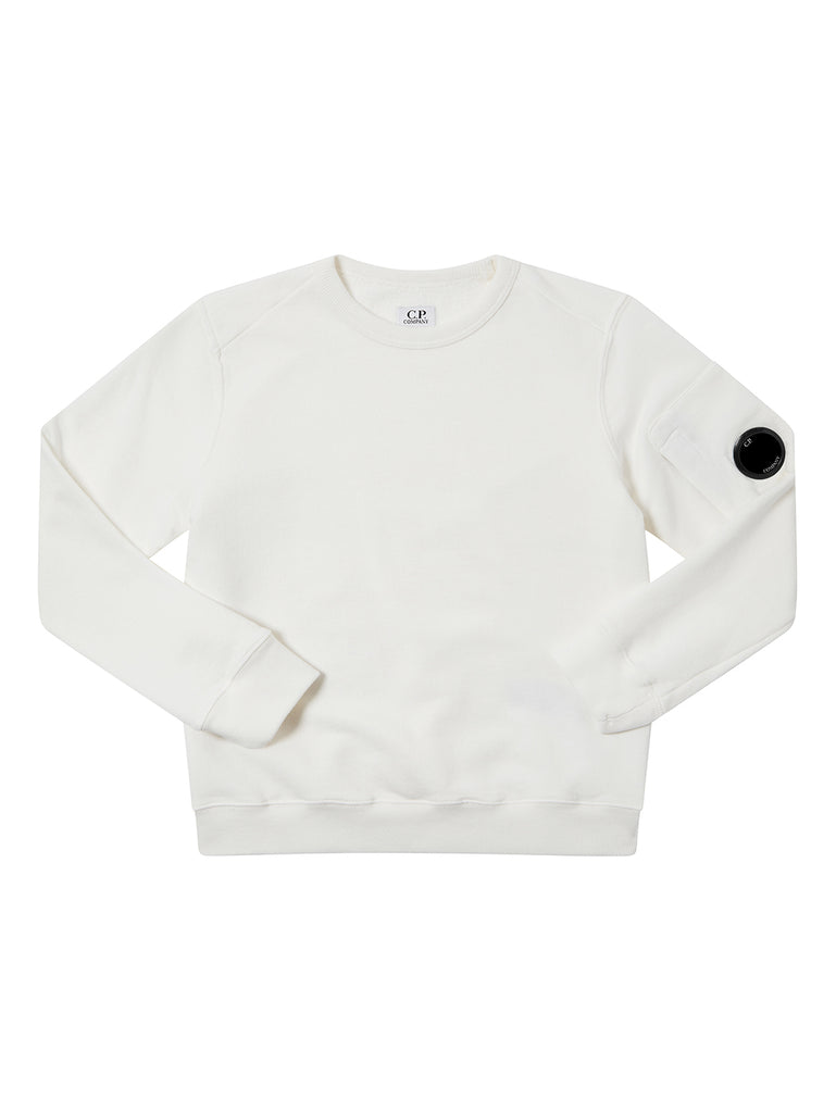 Undersixteen Basic Fleece Lens Sweatshirt in Gauze White