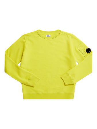 Undersixteen Basic Fleece Lens Sleeve Sweater in Sulphur Spring