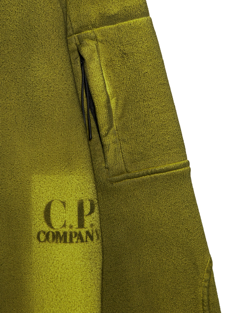P.Ri.S.M. Hand Sprayed Fleece Crew Sweatshirt in Yellow