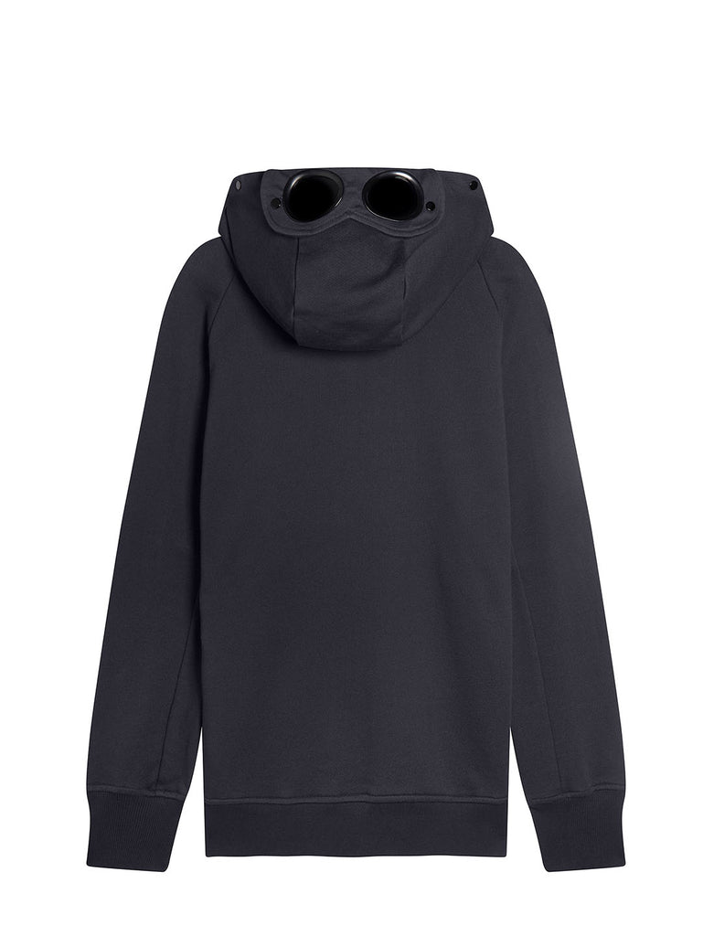 Diagonal Raised Fleece Full Zip Goggle Hoodie in Total Eclipse