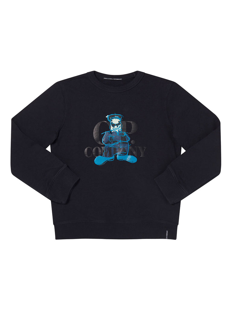 Undersixteen Basic Fleece Comics And Cars Sweatshirt in Total Eclipse