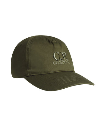Gabardine Logo Cap in Forest Night