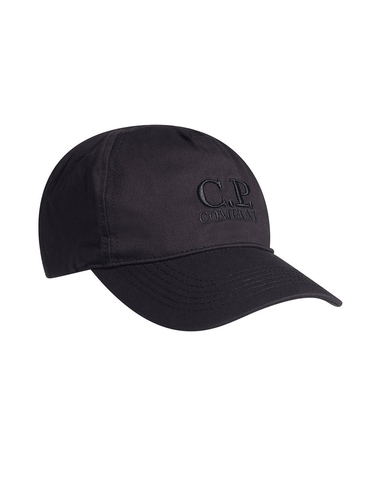 Gabardine Logo Cap in Black