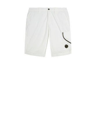 50 Fili Plated Lens Shorts in Gauze White