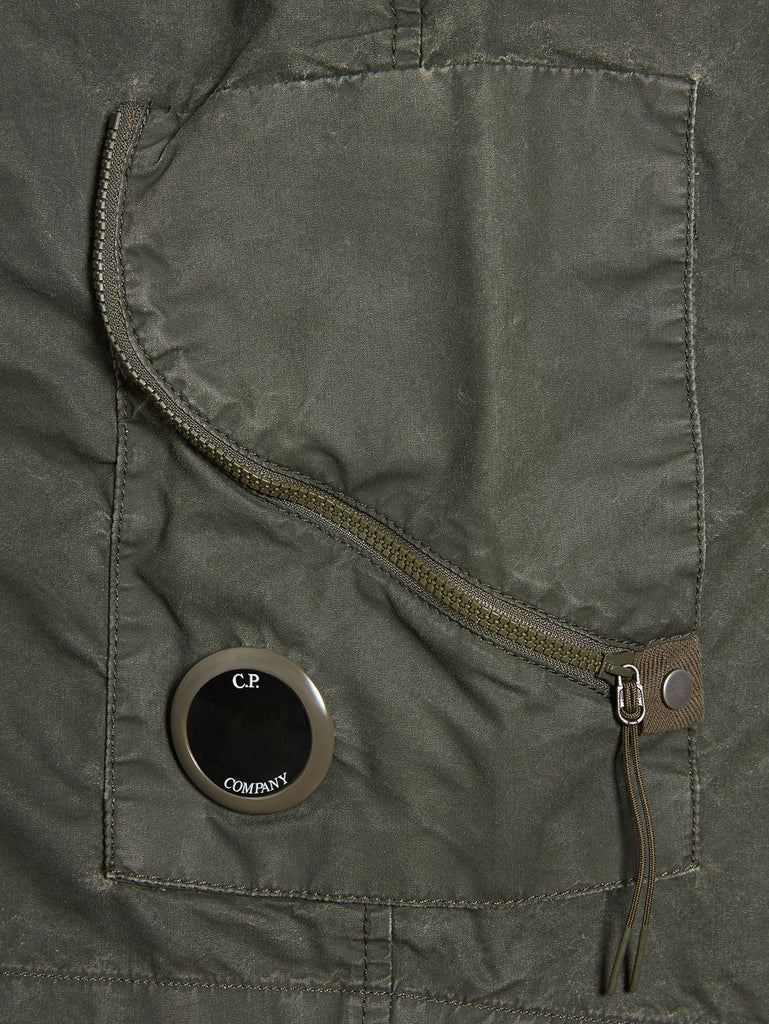 50 Fili Plated Lens Shorts in Forest Night