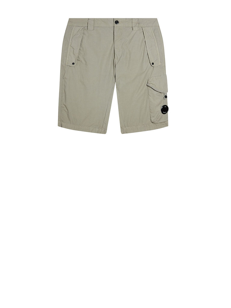 Garment Dyed Cotton Ripstop Lens Shorts in Flint Grey