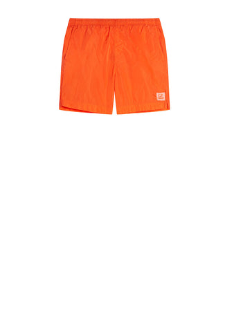 Chrome Swim Shorts in Spicy Orange
