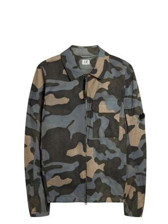 Pro-Tek Camo Lens Overshirt in Blue Camouflage