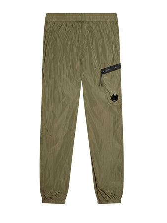 Chrome Lens Track Pants in Burnt Olive