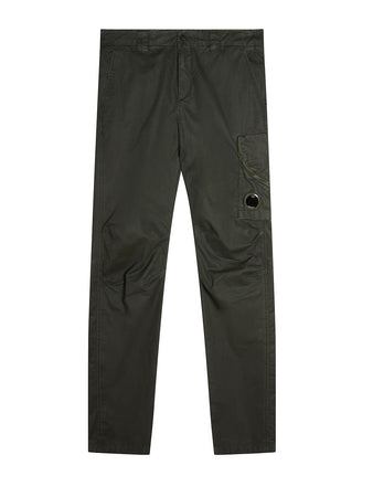 50 Fili Plated Lens Trousers in Forest Night