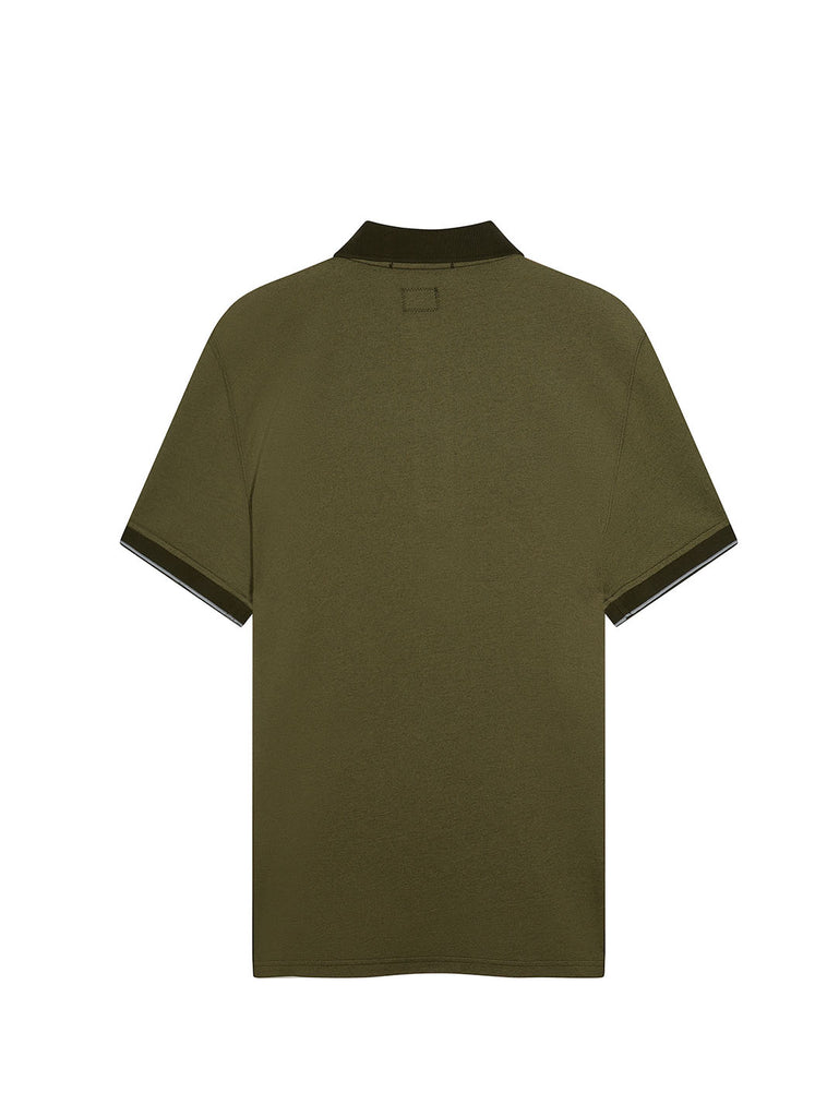 Garment Dyed Tacting Pique Polo Shirt in Forest Night