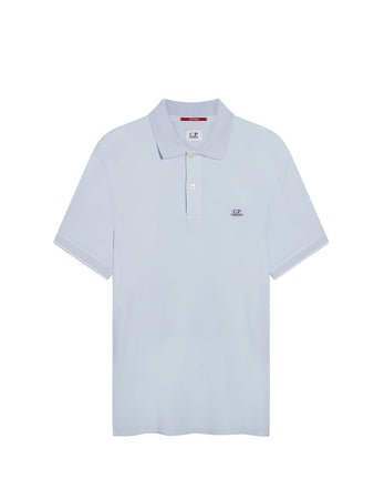 Garment Dyed Tacting Pique Polo Shirt in Halogen Blue