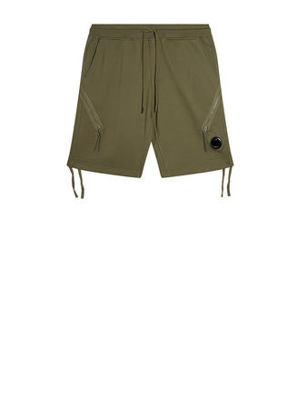 Diagonal Fleece Lens Shorts in Burnt Olive