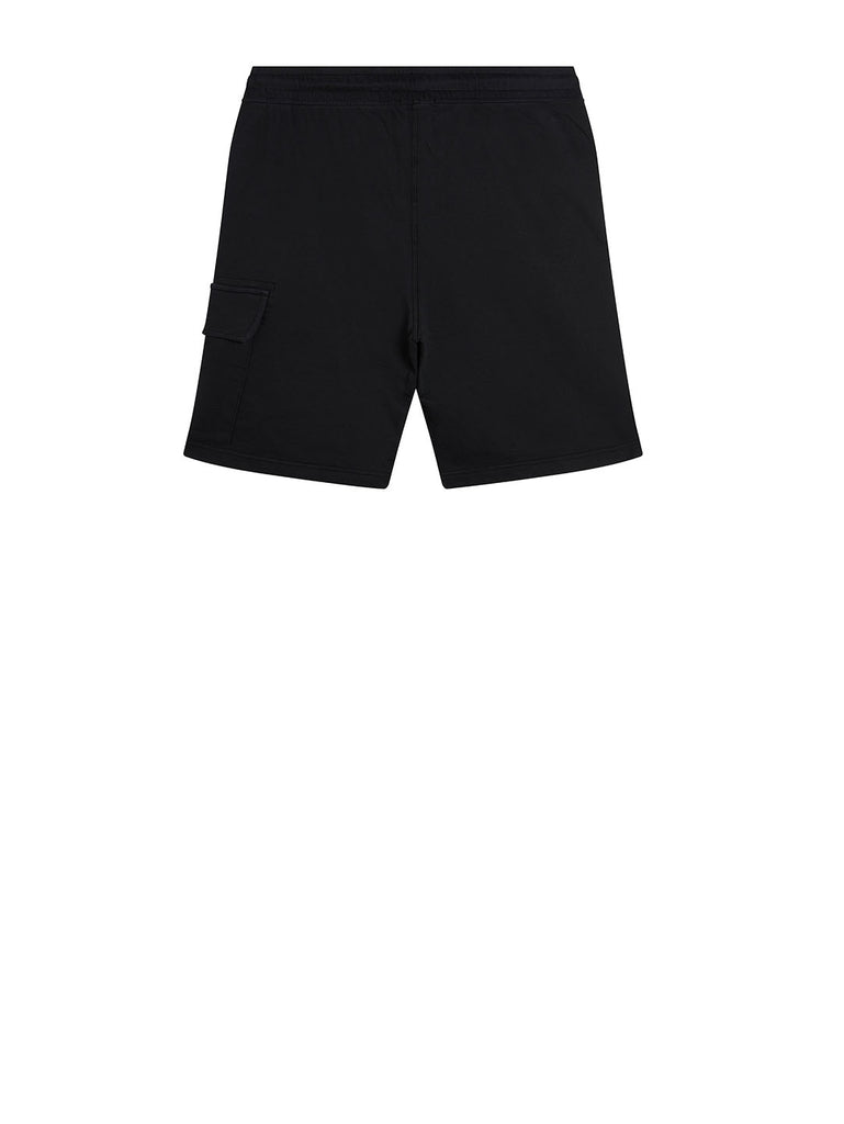Garment Dyed Light Fleece Lens Shorts in Black