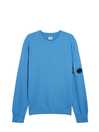 Garment Dyed Light Fleece Lens Sweatshirt in Riviera