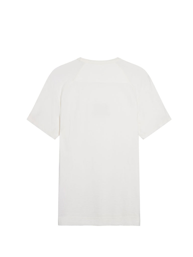 Garment Dyed No Gravity Jersey Logo T-Shirt in Gauze White