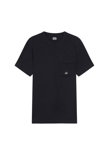 Old Dyed Malfilé Jersey Utility T-Shirt in Black