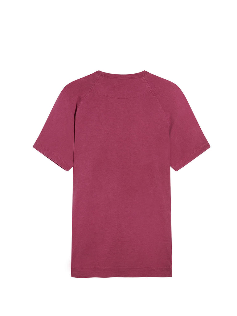 Old Dyed Malfilé Jersey Logo T-Shirt in Festival Fuchsia