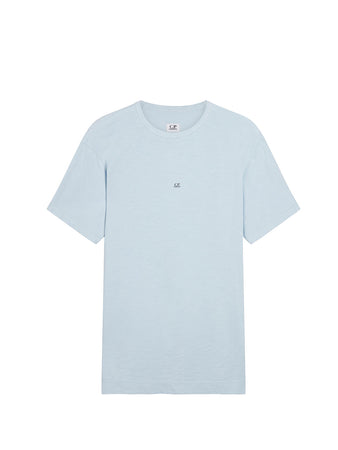 Old Dyed Malfilé Jersey Logo T-Shirt in Halogen Blue