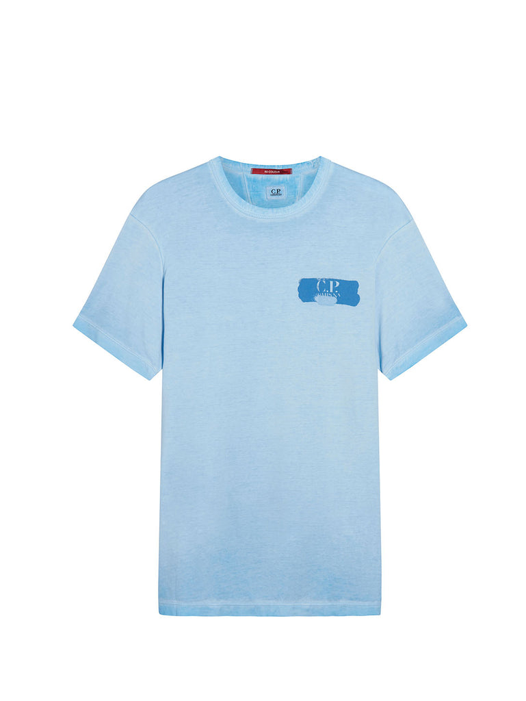 Re-Colour Makò Jersey Logo T-Shirt in Riviera