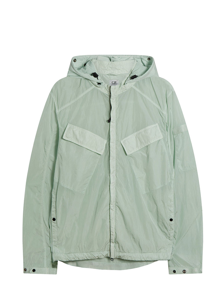 Chrome Goggle Hood Overshirt in Frost
