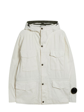 Plated Linen La Mille Jacket in Gauze White