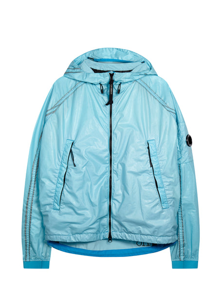 Rubber Hooded Jacket in Hawaiian Ocean