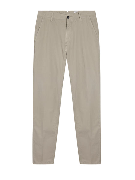 Garment Dyed Gabardine Trousers in Paloma Grey