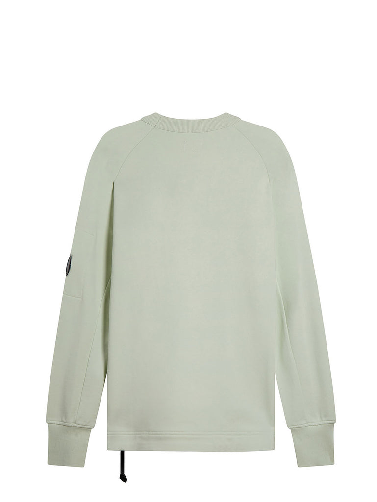 Diagonal Fleece Asymmetrical Zip Sweatshirt in Frost