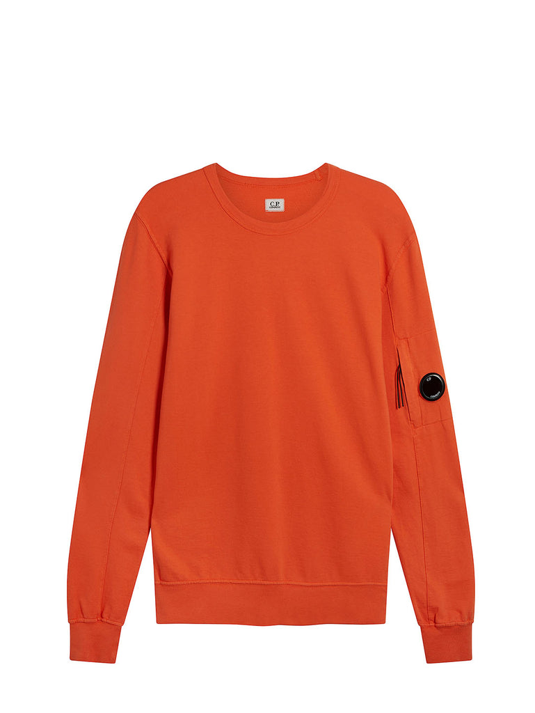 Garment Dyed Light Fleece Lens Sweatshirt in Spicy Orange