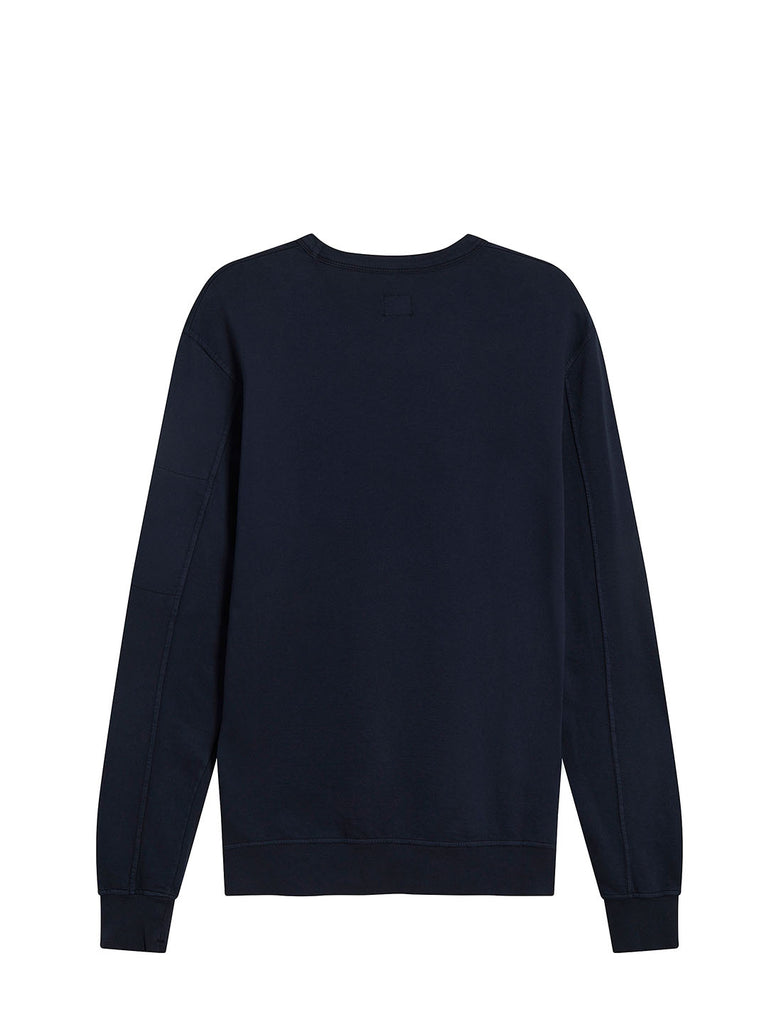 Garment Dyed Light Fleece Lens Sweatshirt in Dark Navy