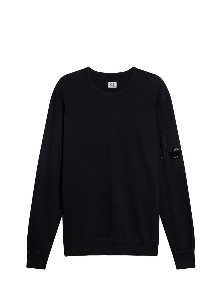 Garment Dyed Light Fleece Lens Sweatshirt in Black