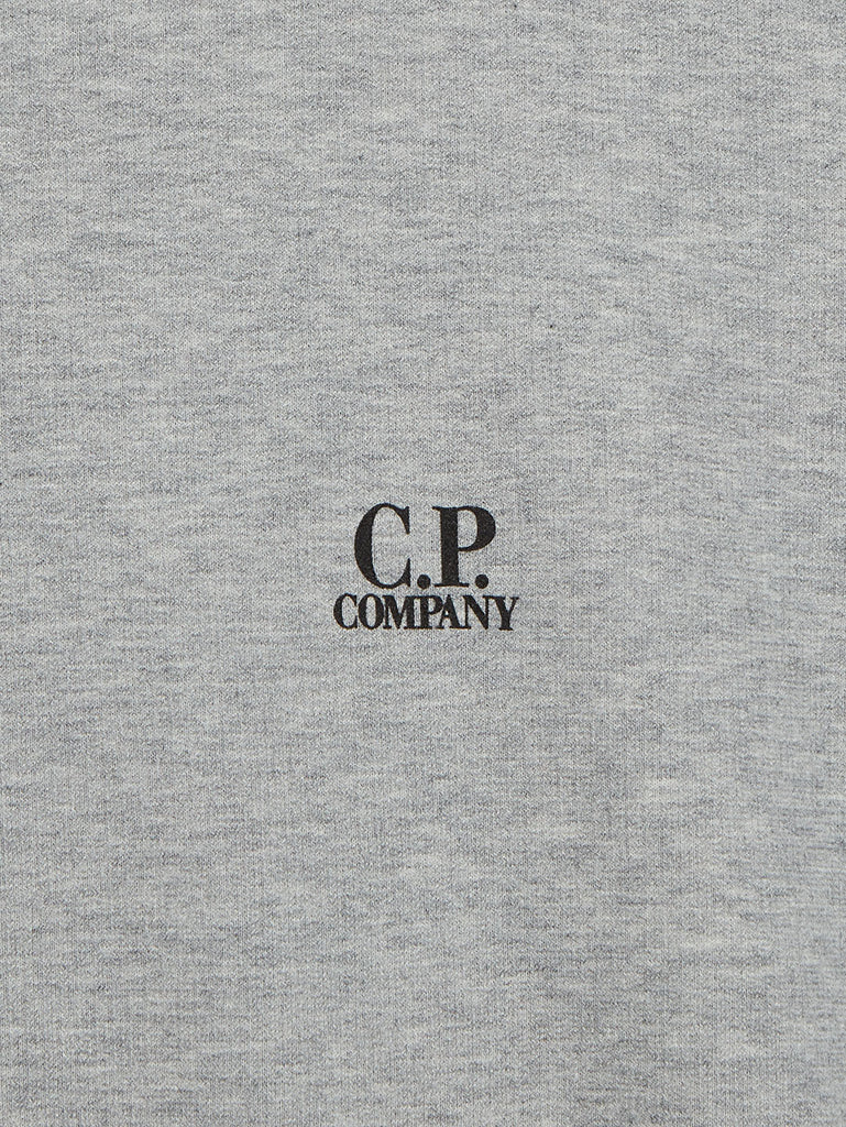 Garment Dyed Light Fleece Logo Sweatshirt in Grey Melange