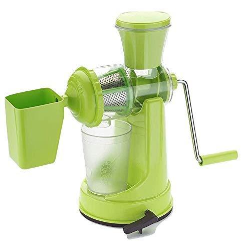 TopMart Manual Fruit Vegetable Juicer with Juice Cup and Waste Collector