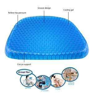 TopMart Cushion Seat Flex Pillow, Gel Orthopedic Seat Cushion Pad (Egg Sitter)