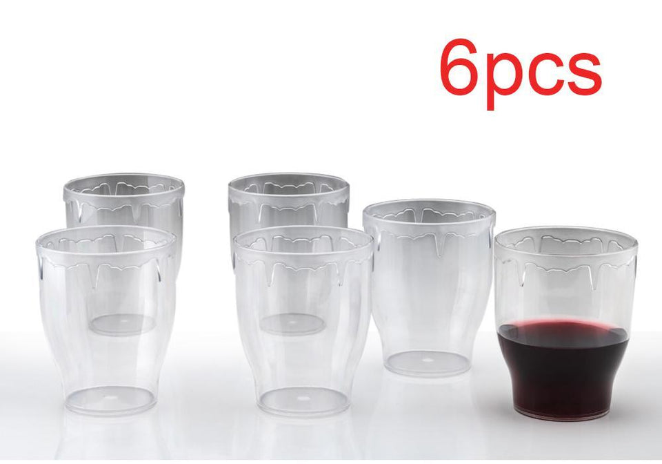 TopMart Stylish look Fancy Glass, Transparent Glasses Set 300ml