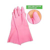 TopMart Cut Glove Reusable Rubber Hand Gloves (Pink ) - 2 Pairs